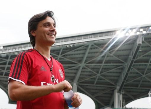 L'ex allenatore del Milan Vincenzo Montella