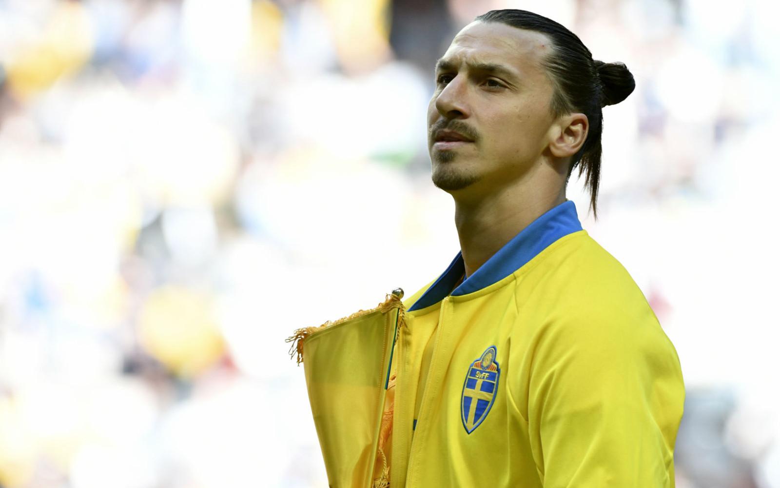 Zlatan Ibrahimovic con la divisa della Svezia in Nazionale