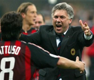 Rino Gattuso e Carlo Ancelotti insieme al Milan nella stagione 2002/2003