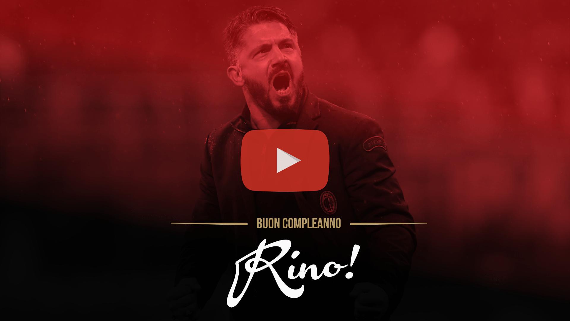 Un video speciale per festeggiare i 40 anni di Rino Gattuso