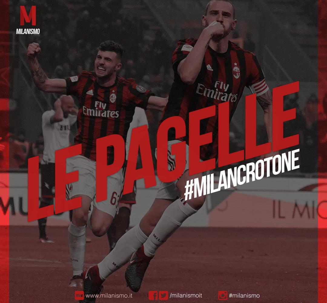 Le pagelle di Milan-Crotone, ventesima giornata di Serie A 2017/2018 terminata sul risultato di 1-0.