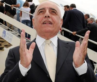 L'ex a.d. del Milan, Adriano Galliani