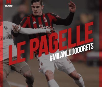 Le pagelle rossonere di Milan-Ludogorets, ritorno dei sedicesimi di Europa League concluso sul risultato di 1-0