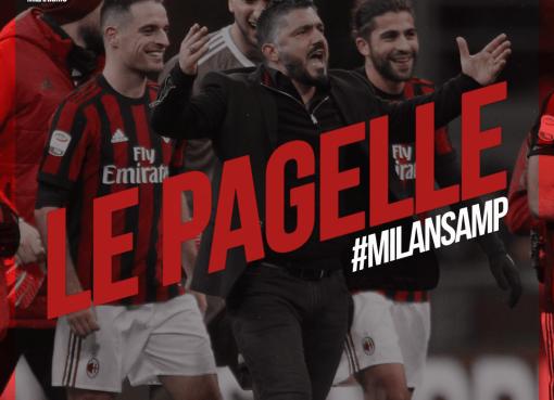 Le pagelle rossonere di Milan-Samp, venticinquesima partita di A conclusa sul risultato di 1-0