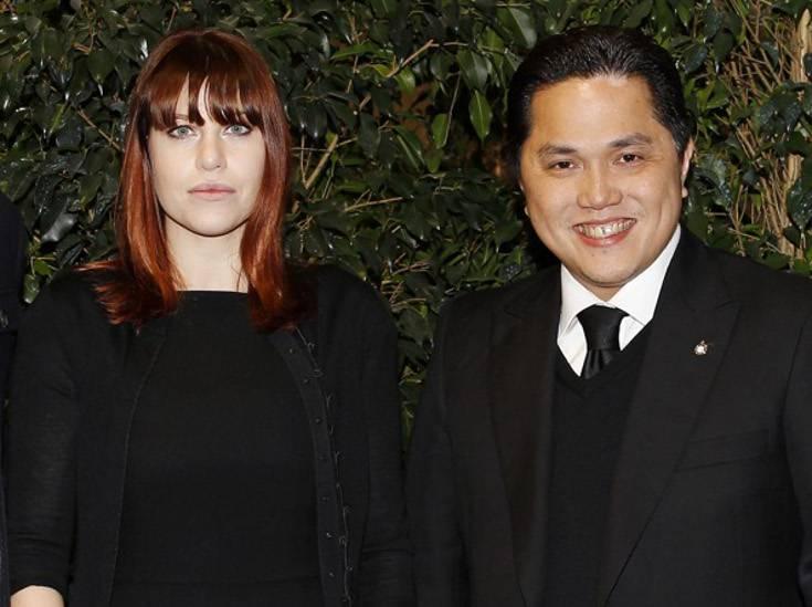 Erick Thohir insieme con Barbara Berlusconi