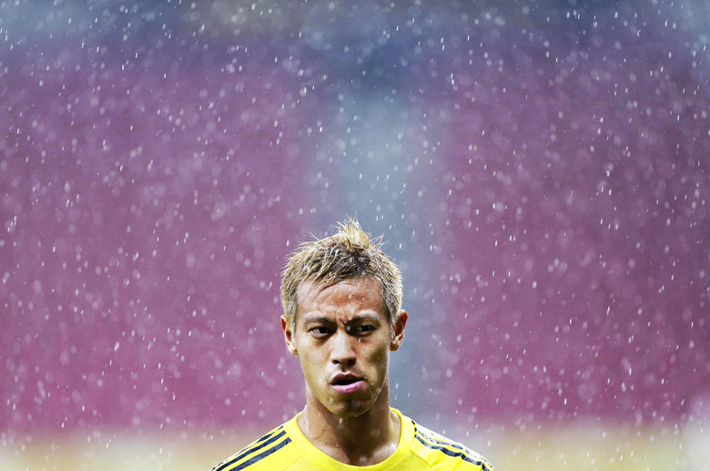 Keisuke Honda reacts during the Confederations Cup