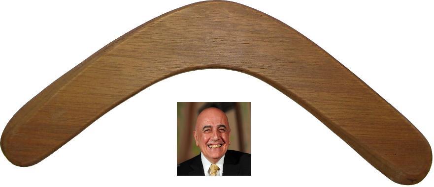 boomerang di Galliani