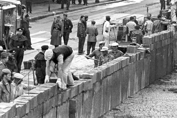 Berliner Mauer Aufbau 1961