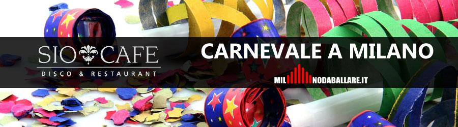 Sio Cafe Milano Carnevale 2018