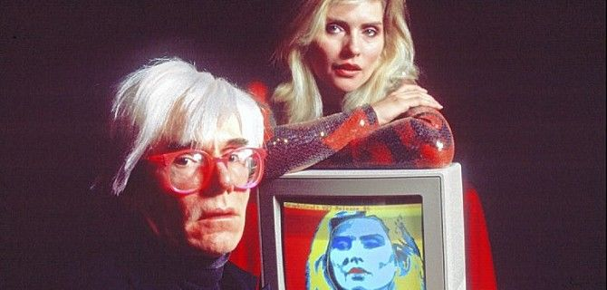 Andy Warhol, all'epoca dei primi esperimenti di digital art