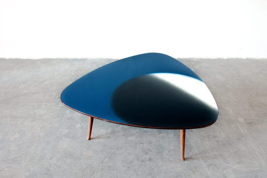 Table with glass top (in collaboration with Lucio Fontana)