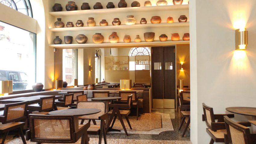 L'interno di Cittamani, il ristorante milanese della chef indiana Ritu Dalmia