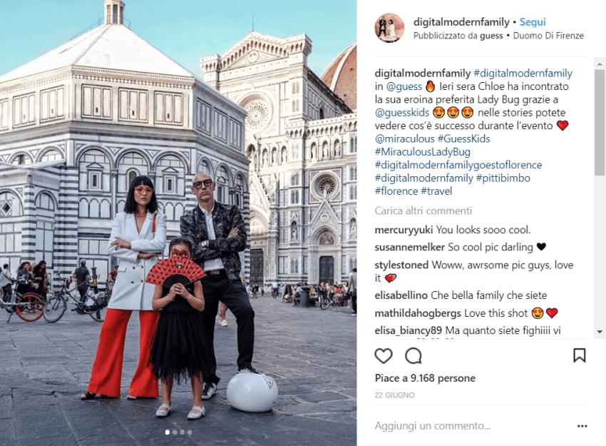"Ecco la trendissima ""digital modern family"" @instagram"