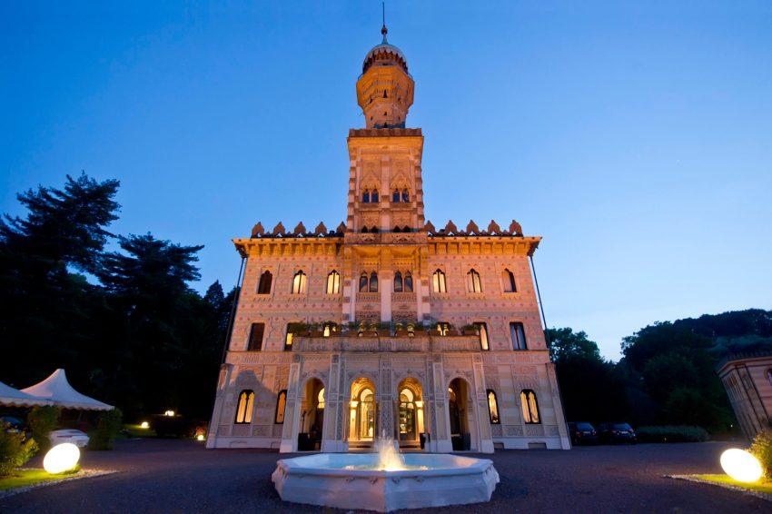 Villa Crespi by night