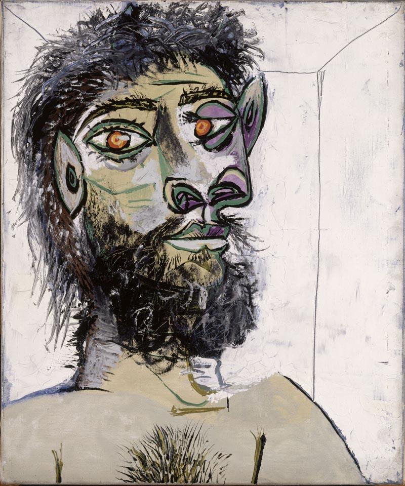 Picasso (1881-1973), Testa di uomo barbuto. Paris, Musée Picasso