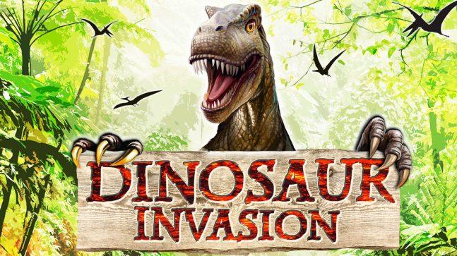 La locandina della mostra sui dinosauri