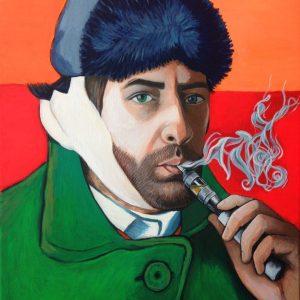 Lo street artist Taglieri in versione Van Gogh