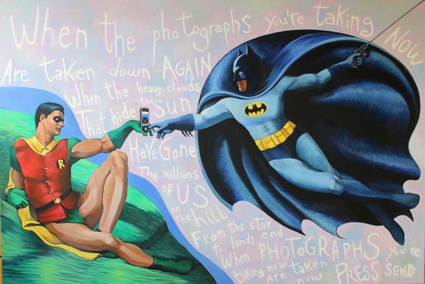 Personaggi dei fumetti su tela in stile street art