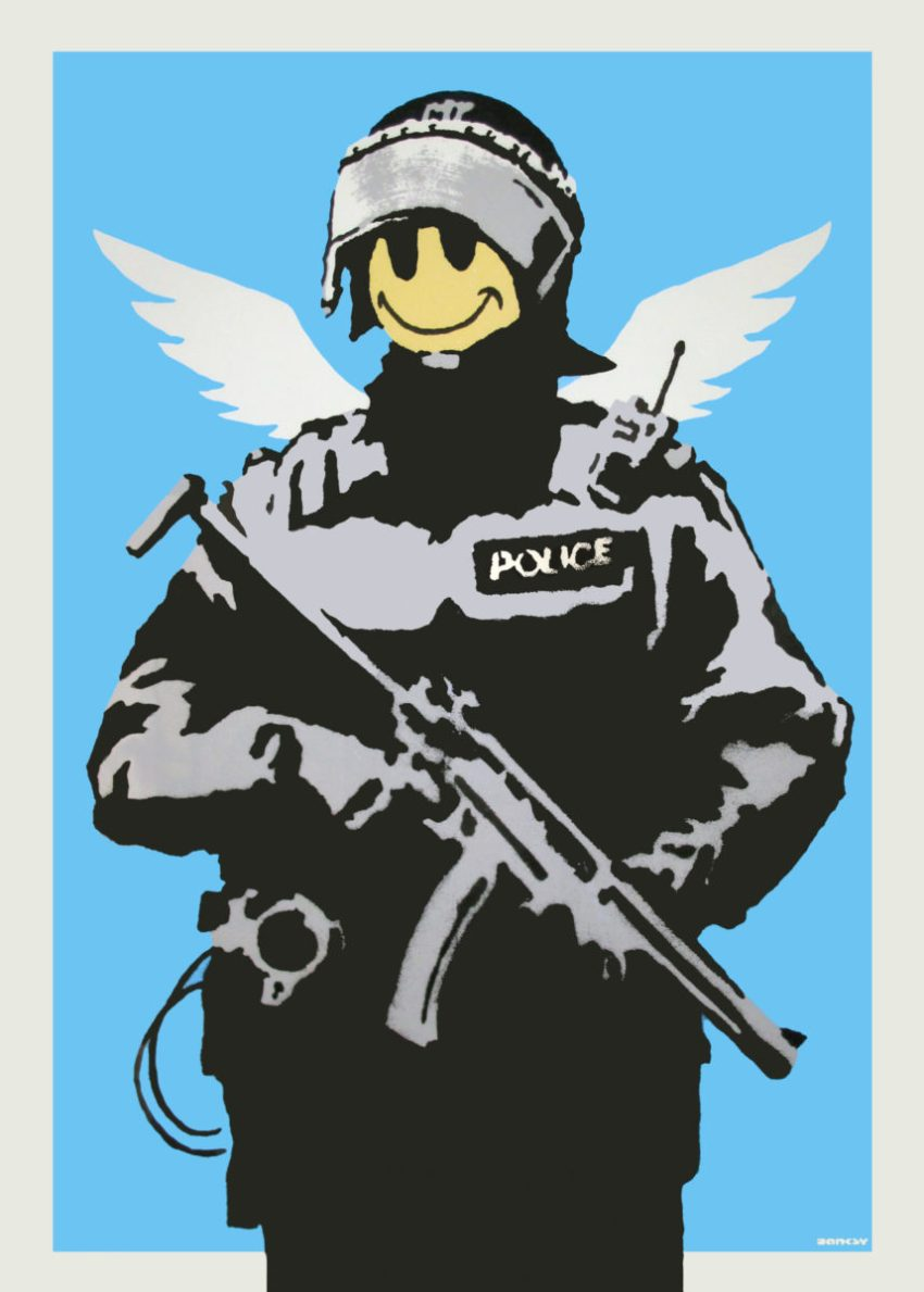 Banksy, Flying Copper (Butterfly Art News Collection)