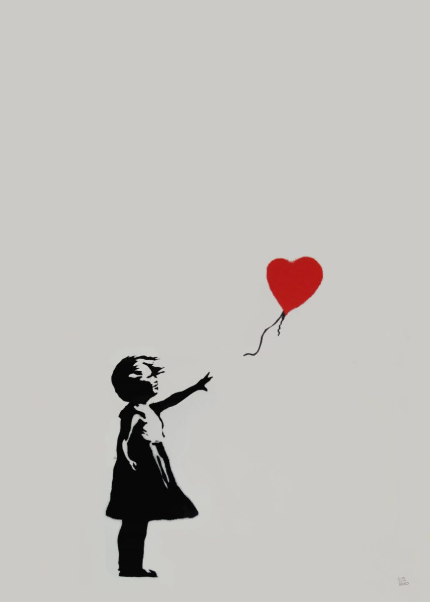 Banksy, Girl Baloon (Butterfly Art News Collection)