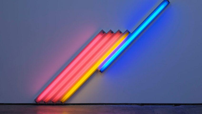 Dan Flavin, la mostra alla Galleria Cardi