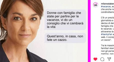 """Daria Bignardi: """"Donne, in vacanza non fate un cazzo"""""""
