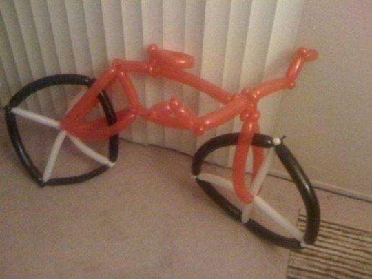 bici de globos