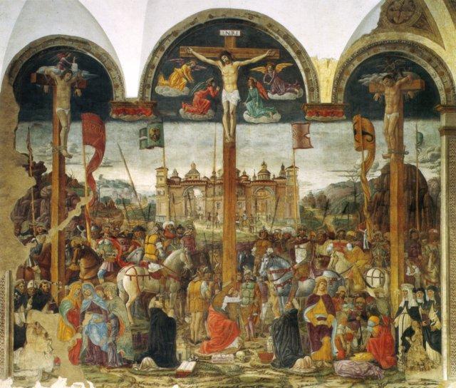 """Донато Монторфано. """"Распятие"""". Церковь Санта-Мария-делле-Грацие"""