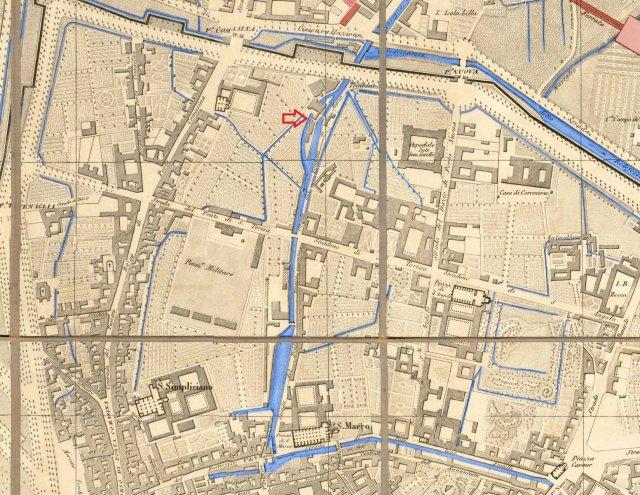 Шлюз дель-Инкороната, карта