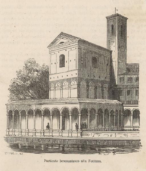 Санта-Мария-алла-Фонтана, репродукция XIX века