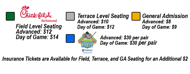 Richmond Flying Squirrels Seating Chart