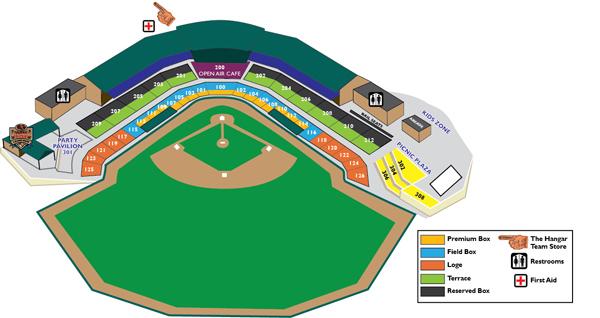 Ripken Stadium Seating Chart