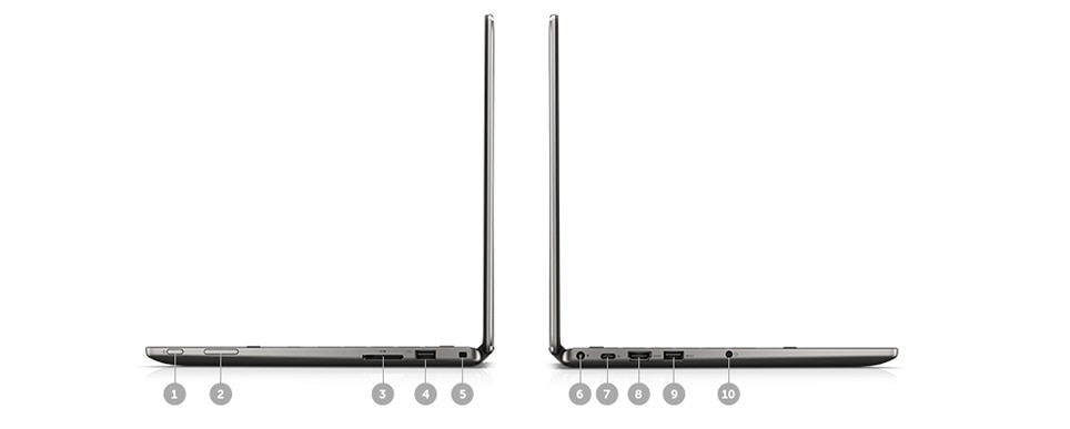 Latitude 13 3000 Series 2-in-1 - Ports and Slots