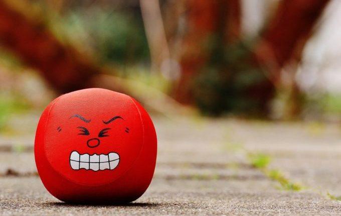 Wenn die Wut kommt - roter Wutball