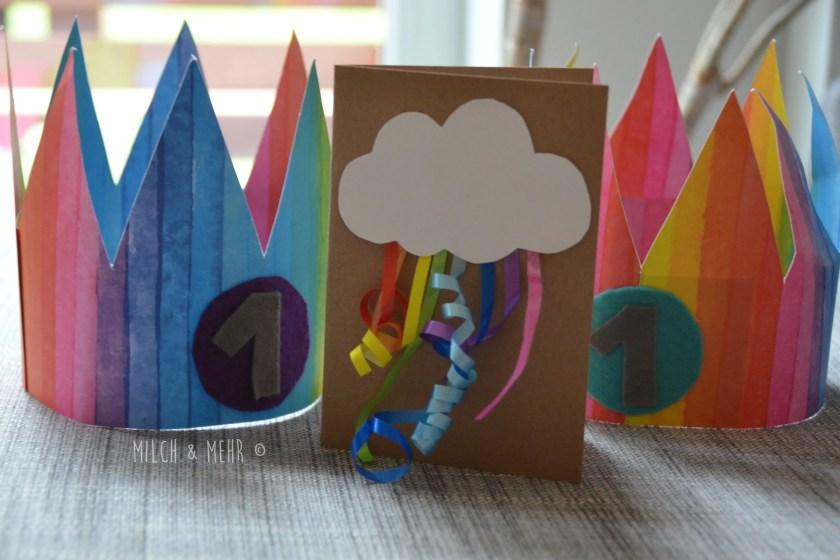 Regenbogen Geburtstag Krone Karten