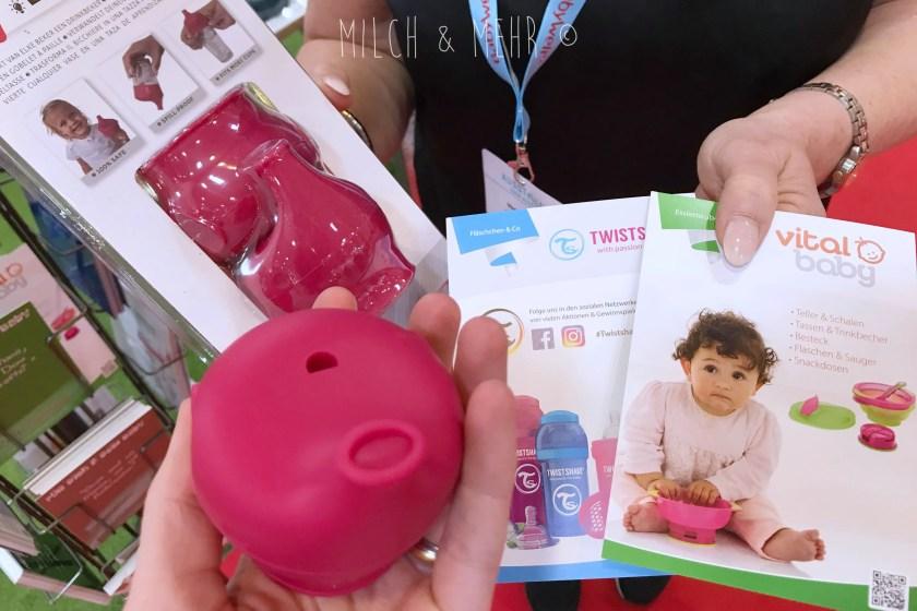 Wichtelexpress24 Glasaufsatz Trinklernbecher Babywelt Messe