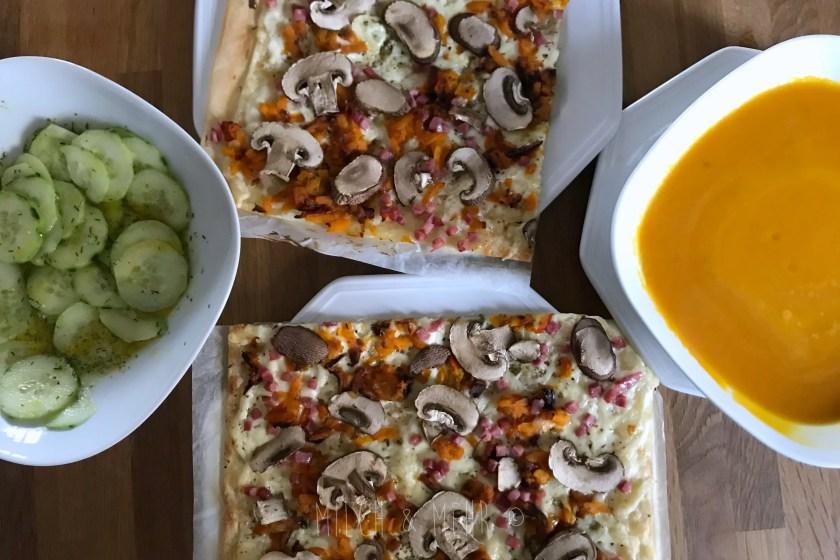 WIB #kw43 herbstliches Mittagessen Flammkuchen mit Kuerbis