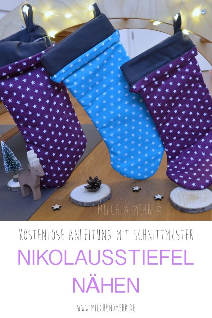 Nähanleitung für einen Nikolausstiefel | Milch & Mehr