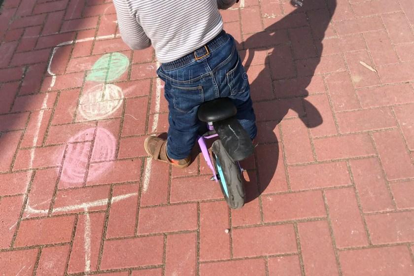 Verkehr Spielen Kleinkinder Strassenkreide