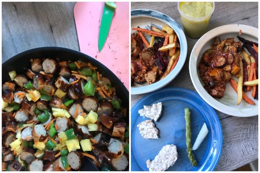 Vorkochen Meal Prep gesunde Currywurst ohne Zucker