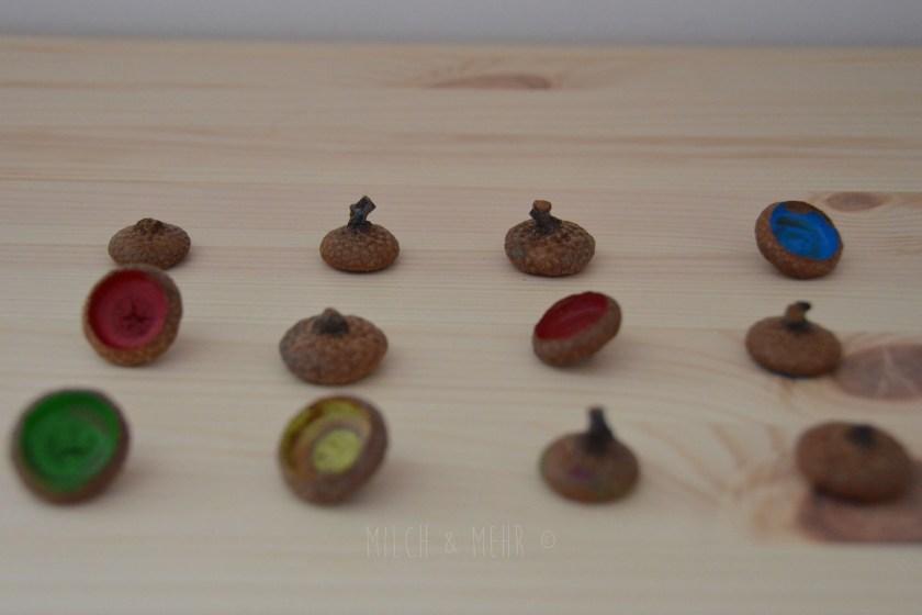 Herbst Bastelidee DIY Eichel Memory