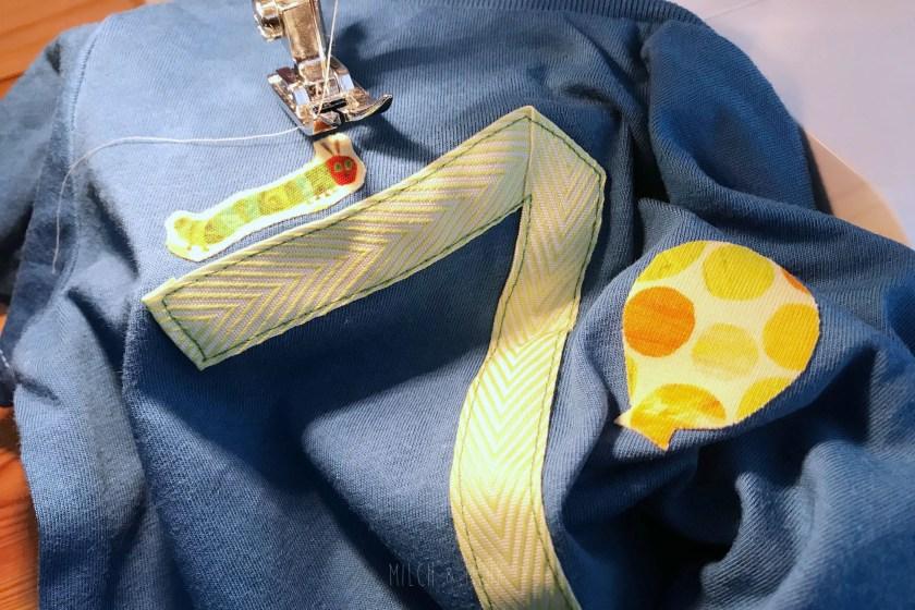 Raupe Nimmersatt Geburtstagsshirt selbst gemacht
