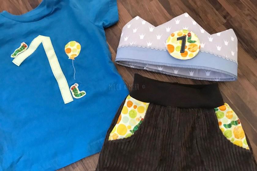 Raupe Nimmersatt Geburtstag Outfit Krone DIY