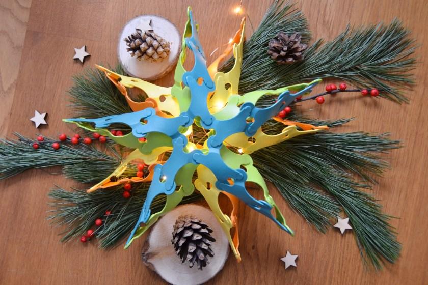 Weihnachtsdekoration Stern aus Binabo