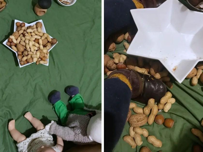 Kinderbeschäftigung Fussboden Picknick
