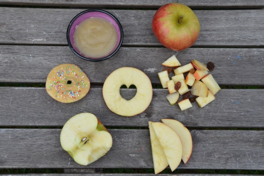 Apfel fuer Kinder kreative Ideen