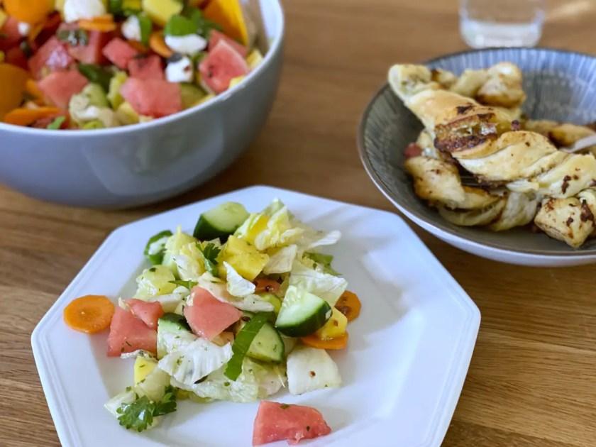 Melonen Mango Salat
