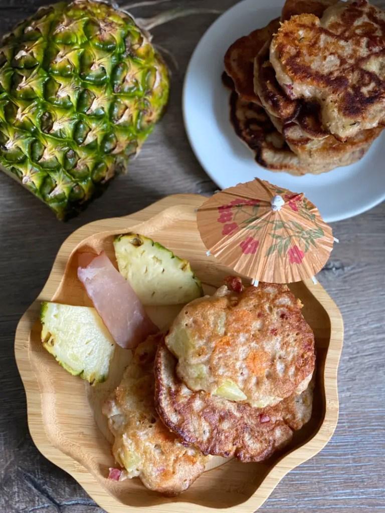 Pancakes Ananas Schinken Rezept