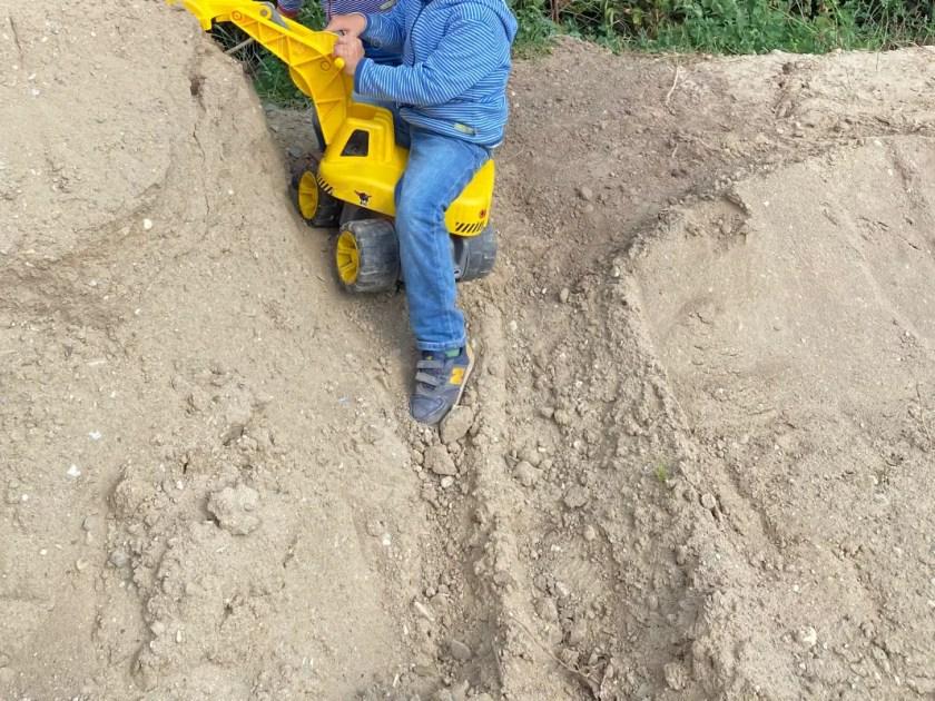 Kinder Spielen Baustelle