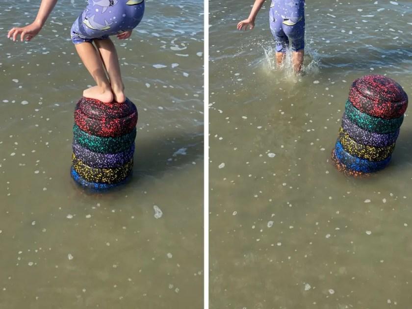 Stapelsteine im Wasser